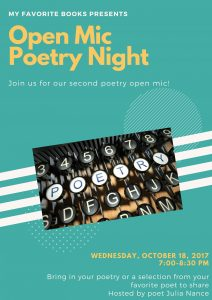 Poetry Open Mic Night at MFB