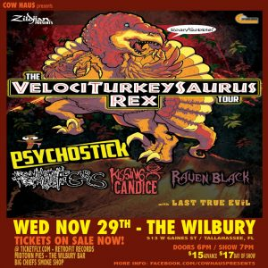 Psychostick w/ Arsonists Get All The Girls, Kissing Candice, Raven Black & Last True Evil