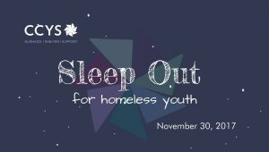 CCYS Sleep Out for Homeless Youth
