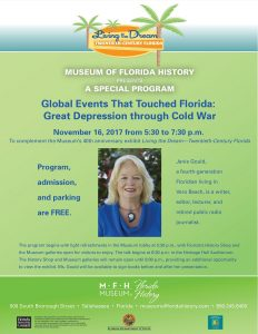 Janie Gould - A special evening program at the Museum of Florida History