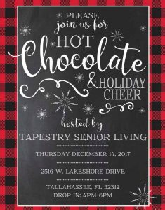 Hot Cocoa Sip and See at Tapestry Senior Living