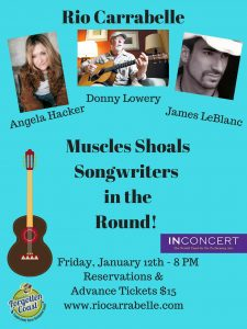 Muscle Shoals Songwriters in the Round - Donny Lowery, James LeBlanc, Angela Hacker - SOLD OUT!