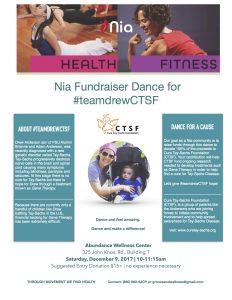 Nia Fundraiser Dance for #teamdrewCTSF