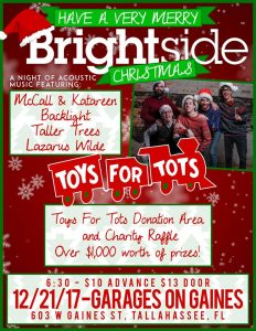 A Brightside Christmas: Toys for Tots Fundraiser + Acoustic Show