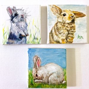Senior Moments Class | Bunnies in Watercolor