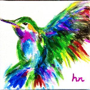 Senior Moments Class | Hummingbird in Watercolor