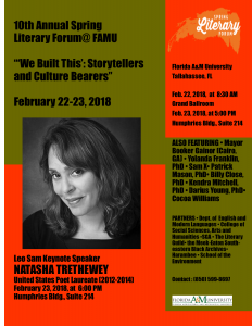 10th Annual Spring Literary Forum at FAMU: Natasha Trethewey, Former United States Poet Laureate