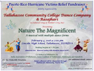 """Nature - the magnificent"" a fundraiser musical to help Puerto Rico hurricane victims rebuild"