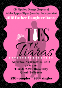 2018 Father Daughter Dance: Ties and Tiara's