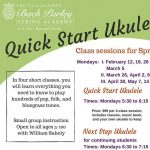 Quick Start & Next Start Ukulele Classes