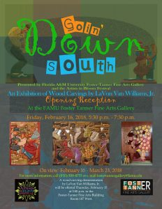 """Opening Reception for """"Goin' Down South: An Exhibition of Wood Carvings by LaVon Van Williams, Jr."""""""