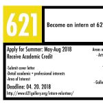 Internship at 621 Gallery
