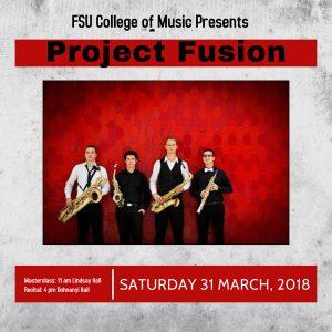 Guest Artist Recital - Project Fusion (saxophone quartet)