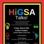 HIGSA Talks