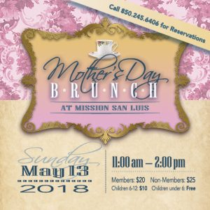 Mother's Day Brunch at Mission San Luis