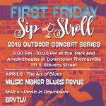 First Friday Sip and Stroll in Downtown Thomasville