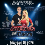 Illusionists David & Jenny From America's Got Talent Fundraising Event
