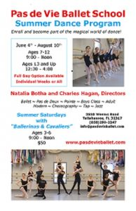 Ballerinas and Cavaliers Saturday Morning Workshop...