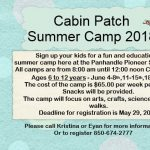 Cabin Patch Day Camp