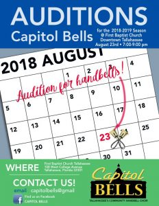 Capitol Bells Auditions for 2018-2019 Season