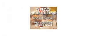 2019-20 Hodder Fellowship