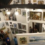 First Friday at Southern Exposure Art Gallery in Railroad Square.