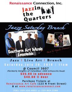 Jazzin the Quarters: Jazzy Saturday Brunch