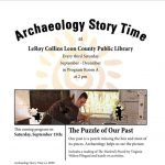 Archaeology Story Time at the LeRoy Collins Leon County Public Library