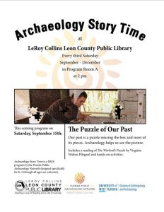 Archaeology Story Time at the LeRoy Collins Leon C...
