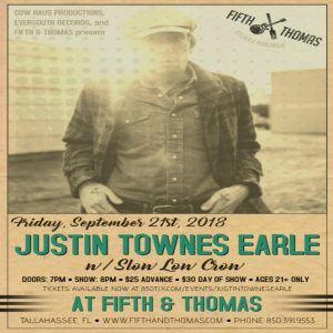 Justin Townes Earle with Slow Low Crow