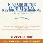 40 Years of the Constitutional Revision Commission: A Panel Discussion