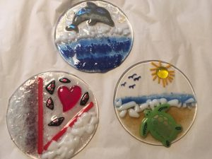 Fun with Fused glass - Suncatchers & Ramekins ...