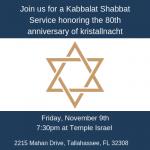 Shabbat Service: 80th Anniversary of Kristallnacht