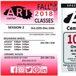 Art Center Fall 2018 Session 2, Studio Classes