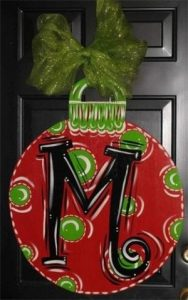 Holiday Front Door Hanger Painting