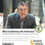 Holocaust Education Week Lecture author presentation