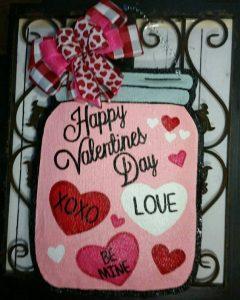 Valentine Front Door Hanger