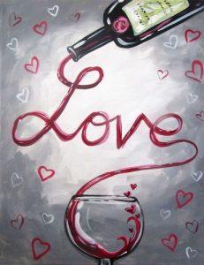 Love Wine Painting