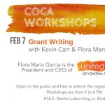 Grantwriting Workshop with Kevin Carr and Flora Maria Garcia