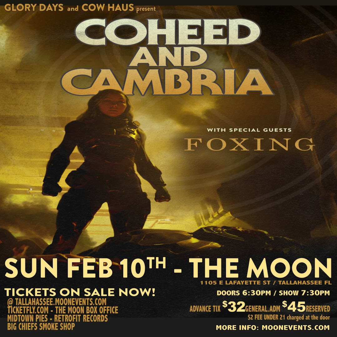 Coheed and Cambria w/ Foxing presented by Cow Haus Presents