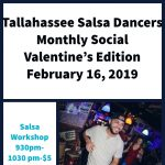 Tallahassee Salsa Dancers Monthly Social: Sweetheart Edition