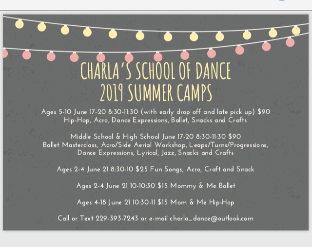 Summer Dance Camp presented by Charla's School of Dance