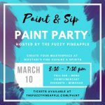 Paint and Sip Paint Party Hosted by The Fuzzy Pineapple