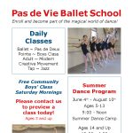 Pas de Vie Ballet's 2019 Spring Classes