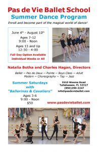 Pas de Vie Ballet's Summer Dance Camp