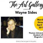 Wayne Sides Exhibit at Thomas University Art Gallery
