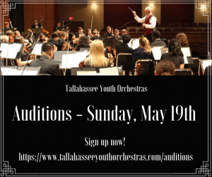 Auditions for Tallahassee Youth Orchestras
