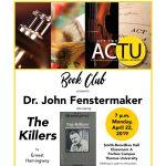 ACTU April Book Club: Dr. John Fenstermaker