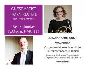 Guest Artist Recital and Masterclass - Johanna Yarbrough and Karl Pituch, horns