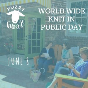 Fuzzy Goat World Wide Knit in Public Day